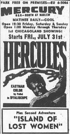 Mercury Theater Advertisement