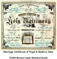 Kathryn & Virgil Dean - marriage certificate