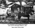 Harry Bell (father of Howard Bell) in horse-drawn buggy