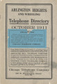 Telephone Directory - 1911, October - Arlington Heights and Wheeling, Illinois.