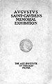 Catalogue of sculptured works of Augustus Saint-Gavdens : with biographical sketch ......