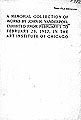 A memorial collection of works by John H. Vanderpoel, exhibited from February 1 to February 28, 1912, in the Art...