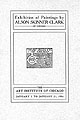 Exhibition of paintings by Alson Skinner Clark of Chicago : January 2 to January 21, 1906