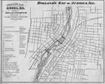 Holland's Map of Aurora, Illinois, 1884