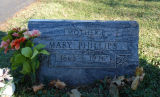 Gravestone of Mary Phillips
