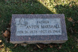 Gravestone of Anton Marshall