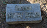 Gravestone of Conchita & John F. Salm