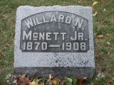 Gravestone of Willard N. McNett Jr.