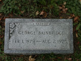 Gravestone of George Bainbridge