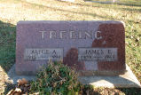Gravestone of Alice A. & James E. Trebing