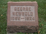 Gravestone of George Newbold