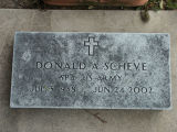 Gravestone of Donald A. Scheve