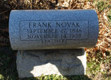 Gravestone of Frank Novak