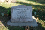 Gravestone of Josephine Poole Reynolds