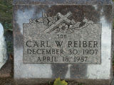 Gravestone of Carl W. Reiber