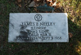 Gravestone of James E. Neeley
