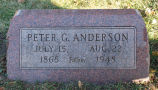 Gravestone of Peter G. Anderson