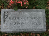 Gravestone of Frederick J. Bainbridge