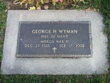 Gravestone of George H Wyman