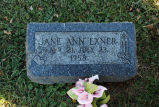 Gravestone of Jane Ann Exner