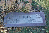 Gravestone of Elsie A. & Thomas L. Hucek Jr.