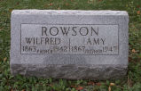 Gravestone of Wilfred & Amy Rowson