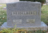 Gravestone of James and Marie Heidelberg