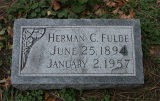 Gravestone of Herman C. Fulde