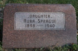 Gravestone of Aura Sprague