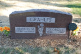 Gravestone of Frances M. & George F. Grahlfs