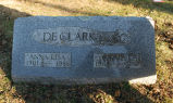 Gravestone of Anna Lisa & Cyril C. DeClark