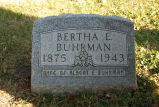 Gravestone of Bertha E. Buhrman