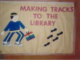 1986 Cary Public Library Readers on the Move Display