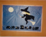 1986 Cary Public Library Halloween Display