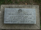 Gravestone of Robert H. Dickman