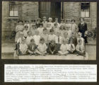 Photo of Cary School Class of 1926 with teacher, Miss Vera Hutson.