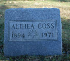 Gravestone of Althea Coss