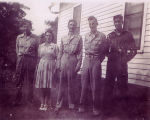 The Clark family siblings during World War II
