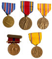 Collection of Medals from World War II