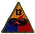 "13th Armored ""Black Cat"" Division Patch"