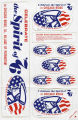 Bicentennial stickers, Chicago Ridge Bicentennial Committee, 1976