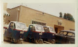 Post office vehicles in front of Glenn Maker American Legion Post 1160, circa 1960