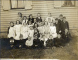 Schools: Chicago Ridge School, one-room schoolhouse, students, circa 1910