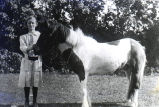 Gladys Clifford with pony
