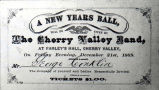 New Year's Eve Ball invitation, 1869