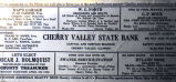 Bank ink blotter, Cherry Valley State Bank, 1930