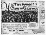 Mills and Sons Newspaper Advertisement