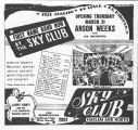 Advertisement for the Sky Club