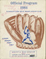 Program for Elmwood Park Boy's Major League Baseball