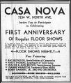 Advertisement for Casa Nova Night Club